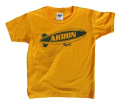 'Akron Blimp' in Blue on Gold Toddler Tee