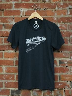 'Akron Blimp' on Solid Dark Grey TriBlend Unisex Tee