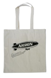 'Akron Blimp' Tote Bag (Black Ink)