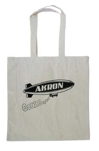 'Akron Blimp' Tote Bag (Black Ink)