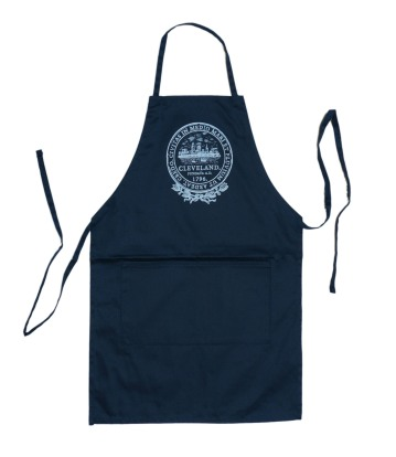 'City Seal' in White on Navy Apron
