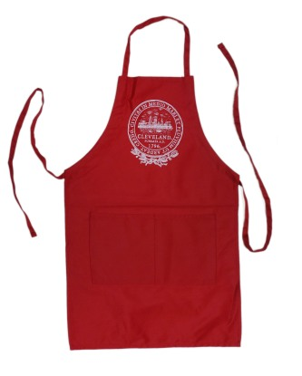 'City Seal' in White on Red Apron