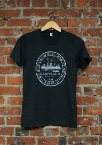 'City Seal' on Charcoal Black Tri-Blend Unisex Tee