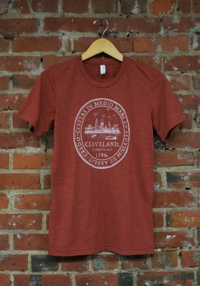 'City Seal' on Clay Tri-Blend Unisex Tee