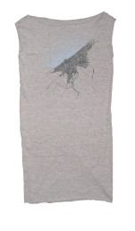 'Cleveland 1904 Map (Halftone Lake)' in Baby Blue and Navy on Heather Grey T Dress