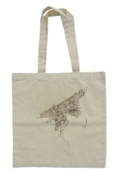 'Cleveland 1904 Map (Halftone Lake)' in Tan and Brown on Natural Tote