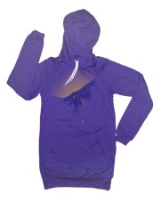 'Cleveland 1904 Map (Halftone Lake)' in Yellow and Purple on Purple Hoody Dress
