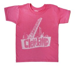 'Cleveland Bridges' in White on Azalea Youth Tee