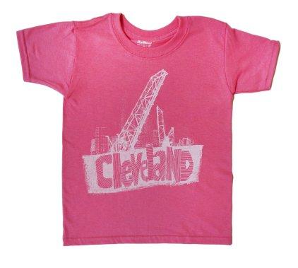 'Cleveland Bridges' in White on Azalea Youth Tee