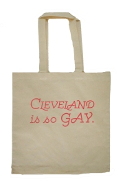 'Cleveland is So Gay' in Hot Pink on Natural Tote