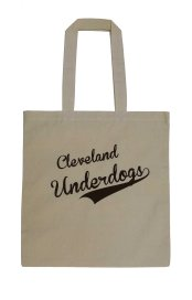 'Cleveland Underdogs' in Brown on Natural Tote