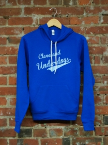 'Cleveland Underdogs' on Royal Pullover Hoodie