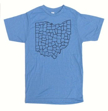 'Counties' in Black on Athletic Blue Unisex Tee