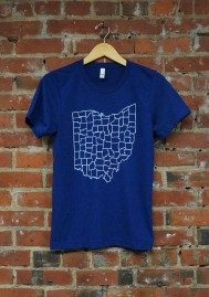 'Counties' on Navy Tri-Blend Unisex Tee