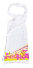 'Detroit-Superior Bridge (CMYK)' in Magenta and Yellow on White American Apparel Sheer Jersey Scarf