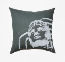 'Guardian' on Grey Pillow