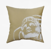 'Guardian' on Khaki Pillow