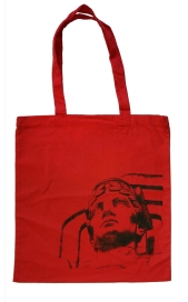 'Guardian' on Red Tote Bag