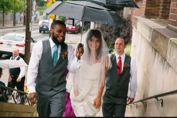 Irsten and Gabriella Wedding Fan Photo (2)
