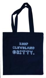 'Keep Cleveland Gritty' Black Tote Bag