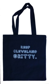 'Keep Cleveland Gritty' Black Tote Bag