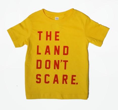 'Land Don't Scare' Yellow Toddler Tee