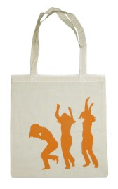 'Move', in Orange on Natural Tote
