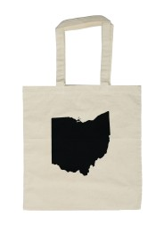 'Ohio State' in Black on Natural Tote