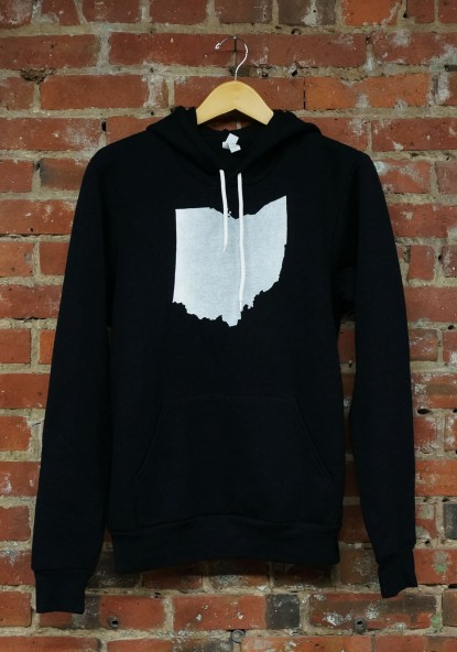 'Ohio State' on Black Unisex Pullover Hoodie