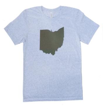 'Ohio State' on White Fleck Unisex Tee