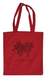 'Pittsburgh Map' Red Tote Bag