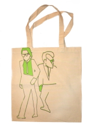 'Reservoir', in Green and Purple on Natural Tote