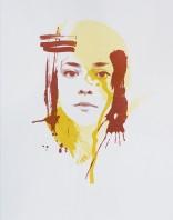 'Self Portrait (Fall)', 11''x14'', Screen Print, 2017