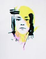 'Self Portrait (Spring)', 11''x14'', Screen Print, 2017