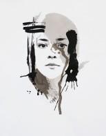 'Self Portrait (Winter)', 11''x14'', Screen Print, 2017
