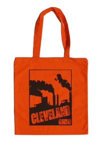 'Smokestacks' on Orange Tote Bag