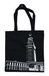 'Tower Center' Black Tote Bag
