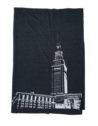 'Tower Center' Tri-Black AA Scarf (Flat)
