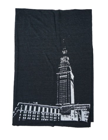 'Tower Center' Tri-Black AA Scarf (Flat)