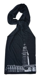 'Tower Center' Tri-Black AA Scarf