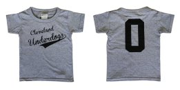 'Underdogs' in Black on Heather Grey Toddler Tee (Front & Back).