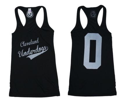 'Underdogs' on Black Racerback Tank (BOTH)