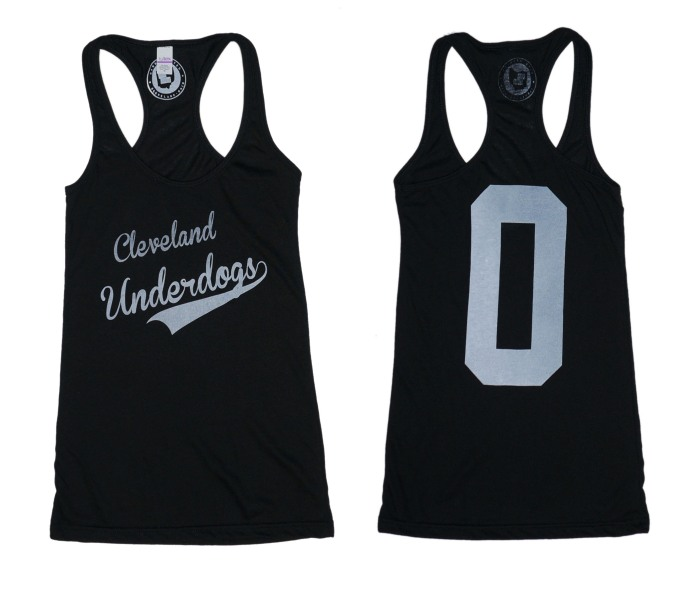 'Underdogs' on Black Racerback Tank (BOTH)