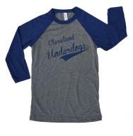 'Underdogs' Raglan Baseball Tee (Grey, Navy)