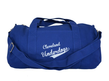 'Underdogs' Royal Duffel Bag (Strap) (White Background)