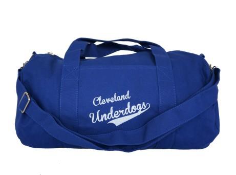 'Underdogs' Royal Duffel Bag (Strap) (White Background)