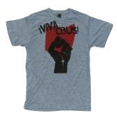 '!Viva CBUS!' in Red and Black on Heather Grey Unisex Tee
