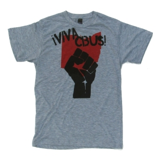 '!Viva CBUS!' in Red and Black on Heather Grey Unisex Tee