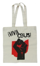 '!Viva CBUS!' in Red and Black on Natural Tote