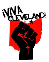 '!Viva Cleveland!' in Red and Black on 11'' x 14'' White Bristol Board